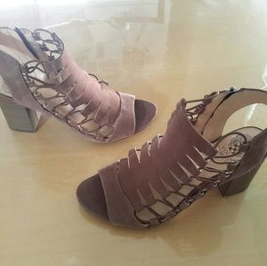 Vince Camuto leather sandal heels, size 9.5 W